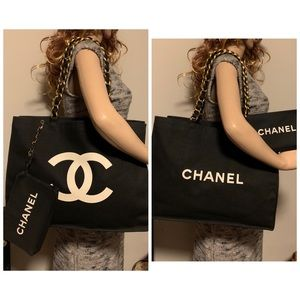 Chanel CC Chanel logo 2 face double chain bag